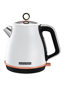 Morphy Richards Morphy Richards Evoke Jug Kettle White Rose Gold Picture