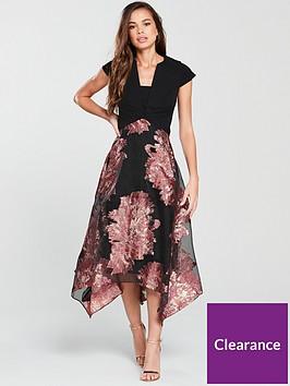 coast-esther-jacquard-dress-black