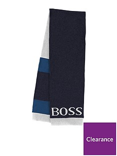 boss-boys-logo-scarf-navy