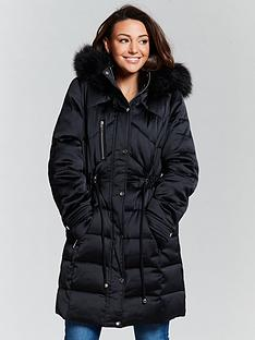michelle-keegan-premium-padded-long-line-coat-black