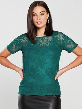 v-by-very-lace-shell-top-jade