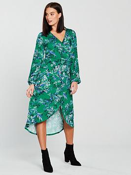 v-by-very-shirred-waist-midi-dress-printed
