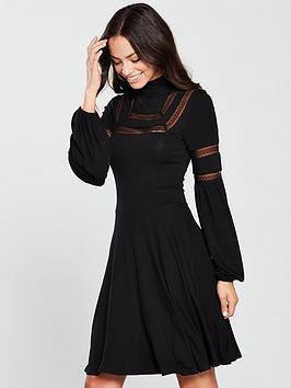 v-by-very-lace-trim-jersey-skater-dress-black