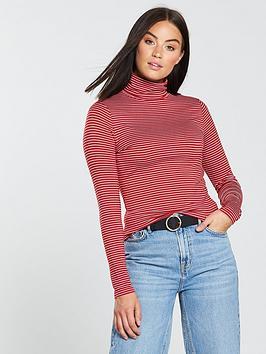 v-by-very-roll-neck-top-stripe