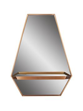 ideal-home-hexagonal-shelf-mirror