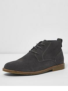 river-island-dark-grey-suede-desert-boot