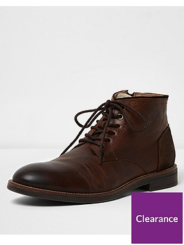 river-island-dark-brown-leather-chukka-boot