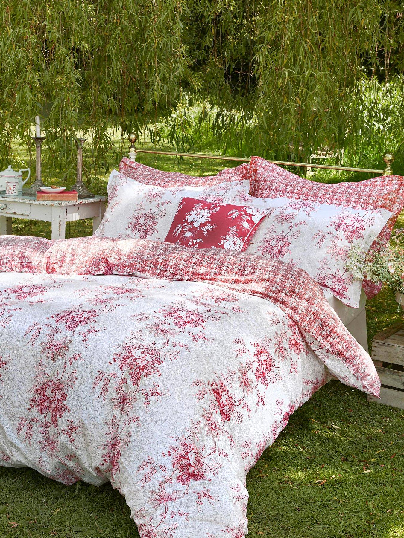 Cabbages and Roses French Toile Duvet Cover King