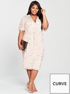 v-by-very-curve-embellished-knot-front-dress-blush