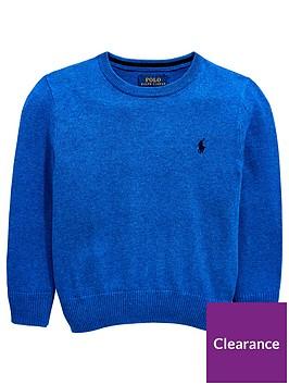 ralph-lauren-boys-crew-neck-jumper-blue
