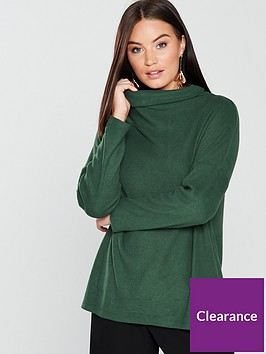v-by-very-ribbed-slouchy-top-green