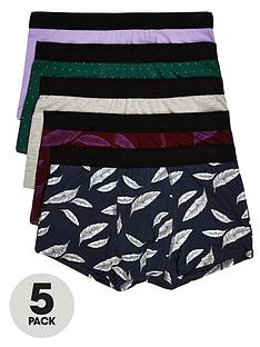 river-island-big-and-tall-5pk-feather-print-hipster