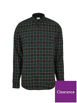 river-island-big-and-tall-blackwatch-check-shirt