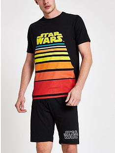 river-island-star-wars-shorts-loungewear-set