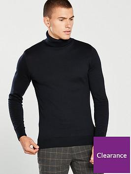 river-island-slim-fit-roll-neck-jumper-black