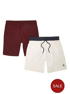 river-island-navy-r96-shorts-two-pack