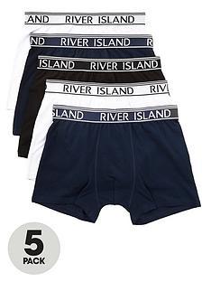 river-island-navy-classics-trunks