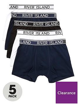river-island-navy-ri-branded-waistband-trunks-multipack