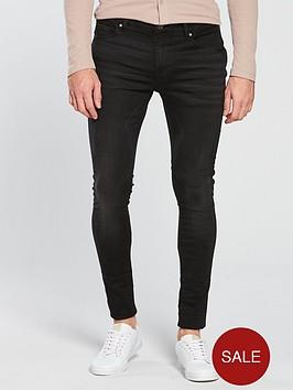 river-island-black-ollie-spray-on-jeans