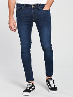 river-island-dark-blue-wash-ollie-skinny-spray-on-jeans