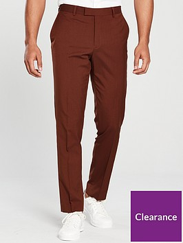 river-island-rust-stretch-skinny-fit-suit-trousers