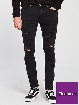 river-island-black-danny-ripped-super-skinny-jeans