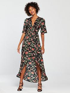 v-by-very-knot-front-printed-midi