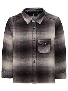 mini-v-by-very-boys-brushed-checked-long-sleeve-shirt-grey