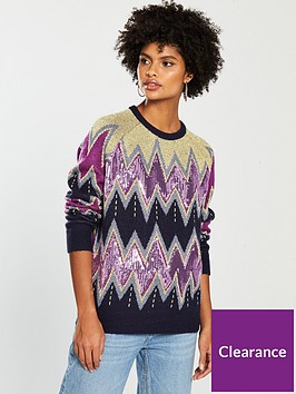 v-by-very-sequin-fairisle-pattern-jumper-blue