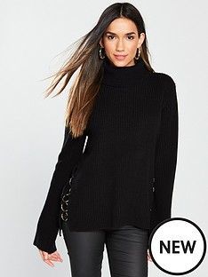 v-by-very-ring-split-side-detail-roll-neck-jumper-blacknbsp