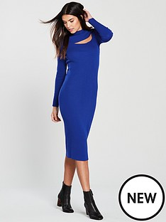 v-by-very-turtleneck-cut-out-knitted-midi-dress-cobalt-bluenbsp