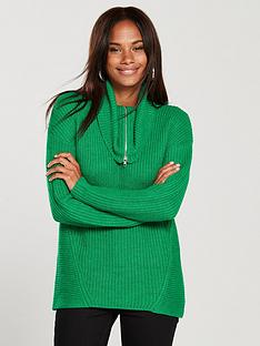 v-by-very-zip-collar-and-hem-roll-neck-longline-jumper-green