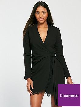 v-by-very-tie-side-lace-trim-dress