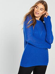 v-by-very-metallic-v-neck-shape-jumper-blue