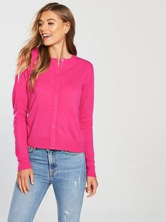 v-by-very-supersoft-crew-neck-cardigan-raspberry-pink
