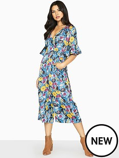 61caa0563a11 Girls on Film Floral Printed Wide Leg Jumpsuit - Printed