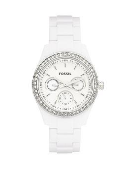 fossil-ladies-white-bracelet-watch