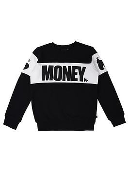 money-boys-black-label-cut-amp-sew-crew-neck-sweat