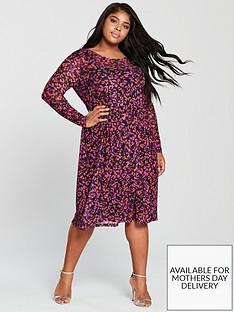 junarose-curve-kamille-printed-long-sleeve-dress