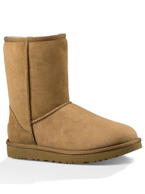 ugg-classic-short-ii-calf-bootsnbsp-brownnbsp