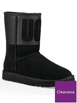ugg-classic-short-uggreg-rubber-boots-black