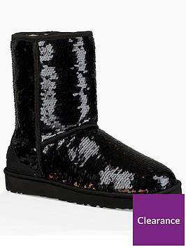 ugg-classic-short-sequin-boot-black
