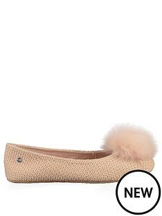 ugg-andi-pom-pom-ballerina-slipper