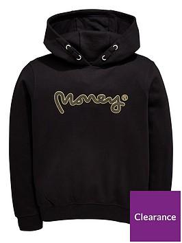 money-boys-gold-label-oversized-overhead-logo-hoody