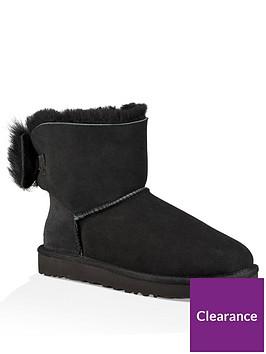 ugg-fluff-bow-mini-boot-black