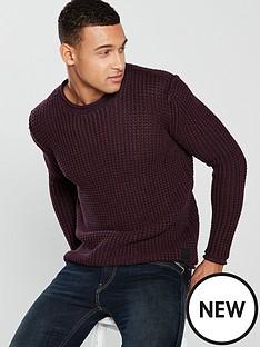 replay-waffle-knit-jumper