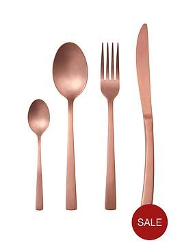 ideal-home-matt-copper-16-piece-cutlery-set