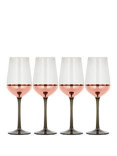 ideal-home-metallic-rose-gold-set-of-4-wine-glasses