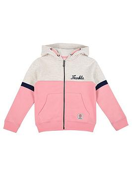 franklin-marshall-girls-zip-front-colour-block-hoody
