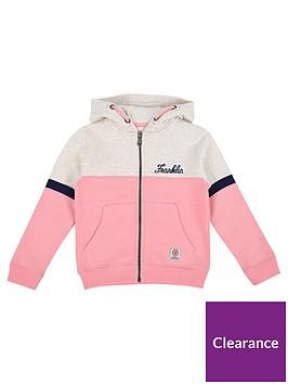 franklin-marshall-girls-zip-front-colour-block-hoody